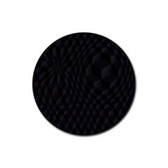 Pattern Dark Texture Background Rubber Coaster (Round)