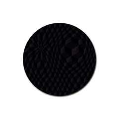 Pattern Dark Texture Background Rubber Round Coaster (4 pack)