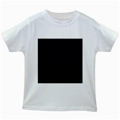 Pattern Dark Texture Background Kids White T Shirts