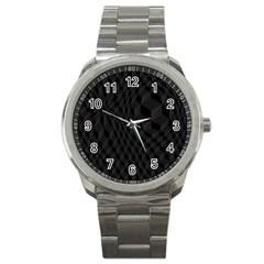Pattern Dark Texture Background Sport Metal Watch