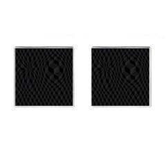 Pattern Dark Texture Background Cufflinks (Square)