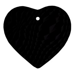 Pattern Dark Texture Background Heart Ornament (two Sides)