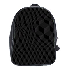 Pattern Dark Texture Background School Bags(large)