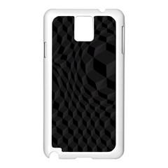 Pattern Dark Texture Background Samsung Galaxy Note 3 N9005 Case (White)