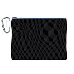 Pattern Dark Texture Background Canvas Cosmetic Bag (XL)