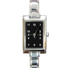 Pattern Dark Texture Background Rectangle Italian Charm Watch