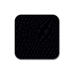 Pattern Dark Texture Background Rubber Coaster (Square)