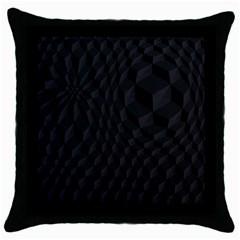 Pattern Dark Texture Background Throw Pillow Case (Black)