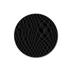 Pattern Dark Texture Background Magnet 3  (round)