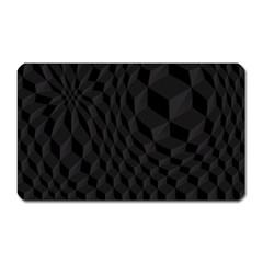 Pattern Dark Texture Background Magnet (Rectangular)