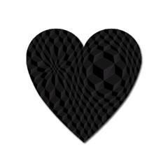 Pattern Dark Texture Background Heart Magnet
