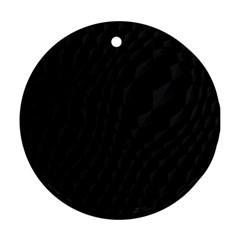 Pattern Dark Texture Background Round Ornament (Two Sides)