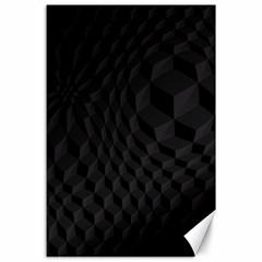 Pattern Dark Texture Background Canvas 24  x 36