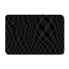 Pattern Dark Texture Background Small Doormat