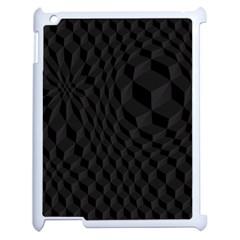 Pattern Dark Texture Background Apple iPad 2 Case (White)