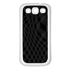 Pattern Dark Texture Background Samsung Galaxy S3 Back Case (White)
