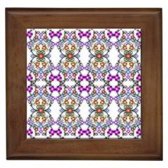 Floral Ornament Baby Girl Design Framed Tiles
