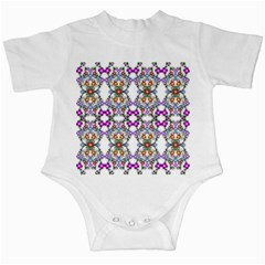 Floral Ornament Baby Girl Design Infant Creepers