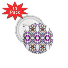 Floral Ornament Baby Girl Design 1 75  Buttons (10 Pack)