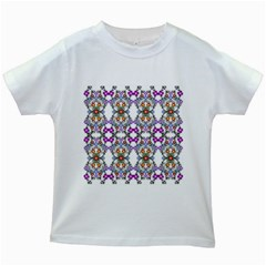 Floral Ornament Baby Girl Design Kids White T Shirts