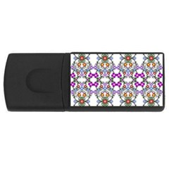 Floral Ornament Baby Girl Design USB Flash Drive Rectangular (2 GB)