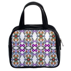 Floral Ornament Baby Girl Design Classic Handbags (2 Sides)