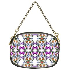 Floral Ornament Baby Girl Design Chain Purses (One Side)
