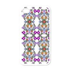 Floral Ornament Baby Girl Design Apple iPhone 4 Case (White)