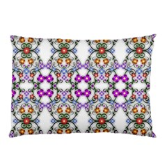 Floral Ornament Baby Girl Design Pillow Case (Two Sides)