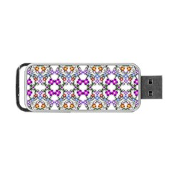 Floral Ornament Baby Girl Design Portable USB Flash (One Side)
