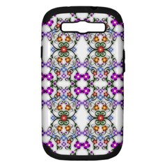 Floral Ornament Baby Girl Design Samsung Galaxy S Iii Hardshell Case (pc+silicone)