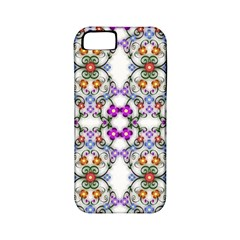 Floral Ornament Baby Girl Design Apple Iphone 5 Classic Hardshell Case (pc+silicone)
