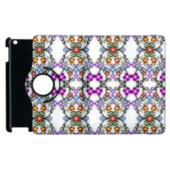 Floral Ornament Baby Girl Design Apple Ipad 2 Flip 360 Case