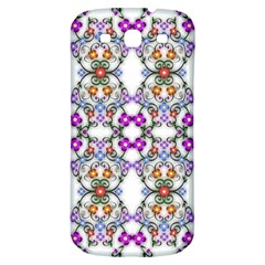 Floral Ornament Baby Girl Design Samsung Galaxy S3 S III Classic Hardshell Back Case