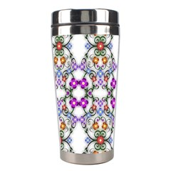 Floral Ornament Baby Girl Design Stainless Steel Travel Tumblers