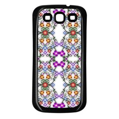Floral Ornament Baby Girl Design Samsung Galaxy S3 Back Case (Black)