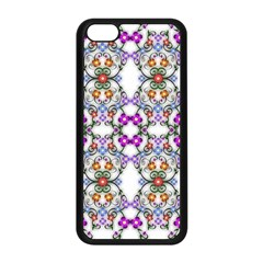 Floral Ornament Baby Girl Design Apple Iphone 5c Seamless Case (black)