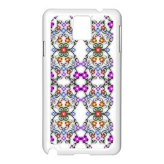 Floral Ornament Baby Girl Design Samsung Galaxy Note 3 N9005 Case (White)