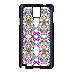 Floral Ornament Baby Girl Design Samsung Galaxy Note 3 N9005 Case (Black)