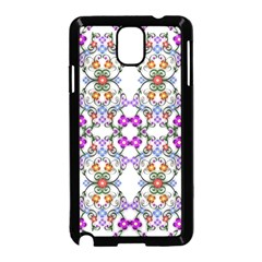 Floral Ornament Baby Girl Design Samsung Galaxy Note 3 Neo Hardshell Case (Black)