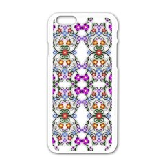 Floral Ornament Baby Girl Design Apple Iphone 6/6s White Enamel Case