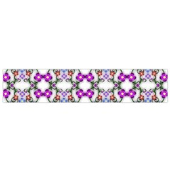 Floral Ornament Baby Girl Design Flano Scarf (Small)