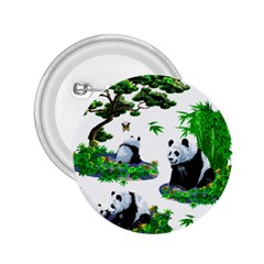 Cute Panda Cartoon 2.25  Buttons