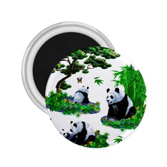 Cute Panda Cartoon 2 25  Magnets
