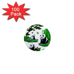 Cute Panda Cartoon 1  Mini Magnets (100 pack)