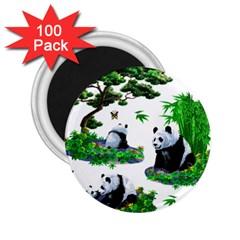 Cute Panda Cartoon 2 25  Magnets (100 Pack)
