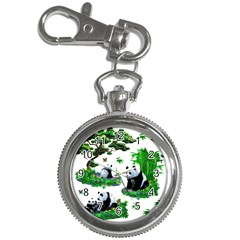 Cute Panda Cartoon Key Chain Watches