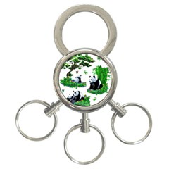 Cute Panda Cartoon 3 Ring Key Chains