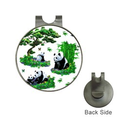 Cute Panda Cartoon Hat Clips With Golf Markers