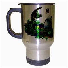 Cute Panda Cartoon Travel Mug (silver Gray)